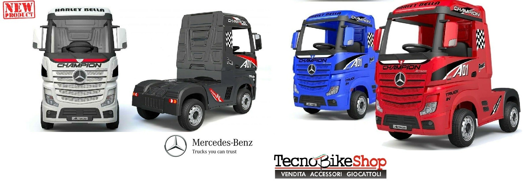 Camion Elettrico Per Bambini Truck MERCEDES ACTROS 12V